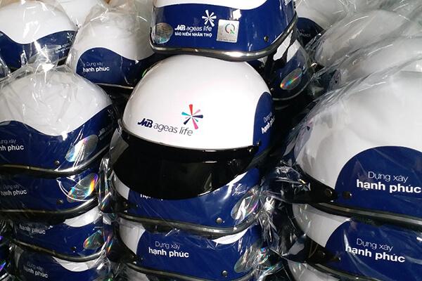 Quà tặng doanh nghiệp mũ bảo hiểm in logo mẫu 1