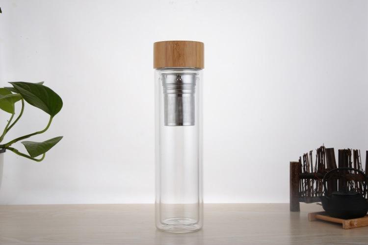 Quà tặng doanh nghiệp Bình nước thủy tinh in logo mẫu 1