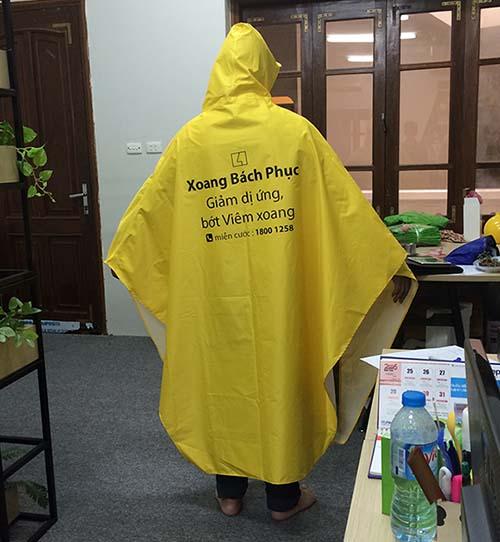 Áo mưa quảng cáo Xoang Bách Phục