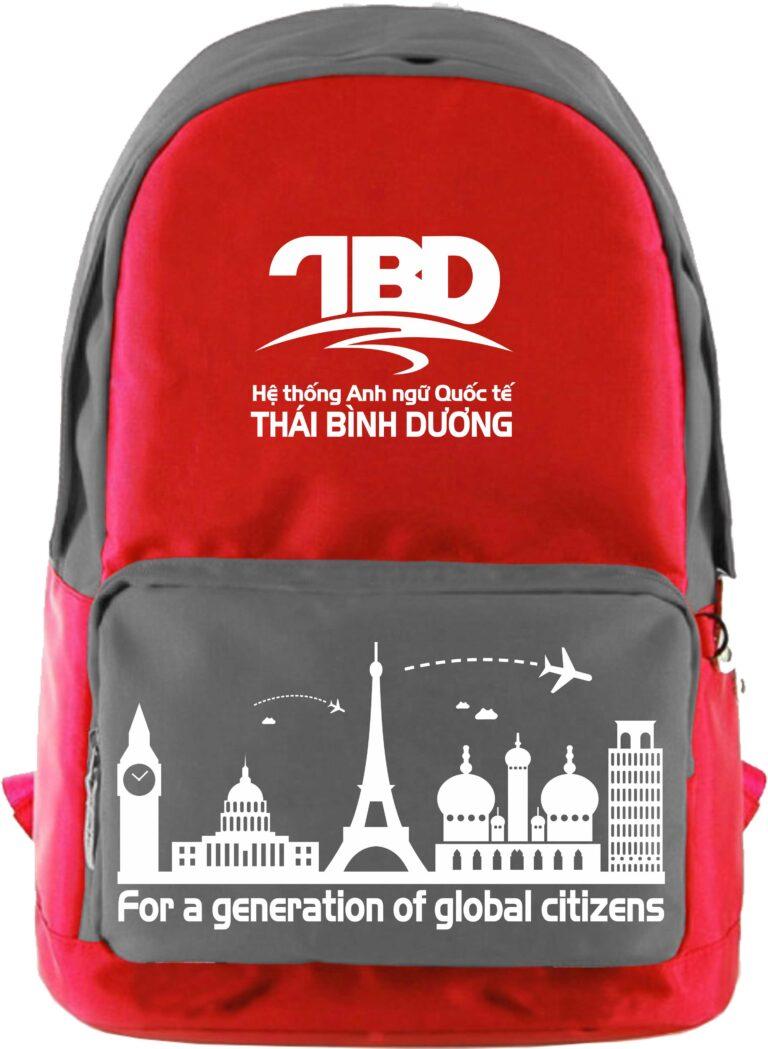 Xưởng may balo du lịch quà tặng - TBD Hệ thống Anh ngữ Thái Bình Dương