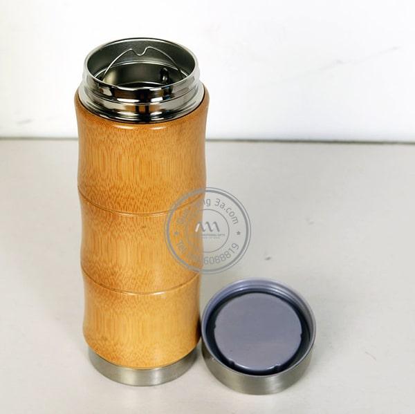 Bình giữ nhiệt hình đốt tre nắp inox