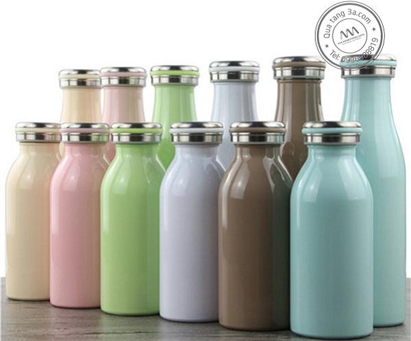 Bình giữ nhiệt vỏ nhựa hình chai sữa xinh xắn