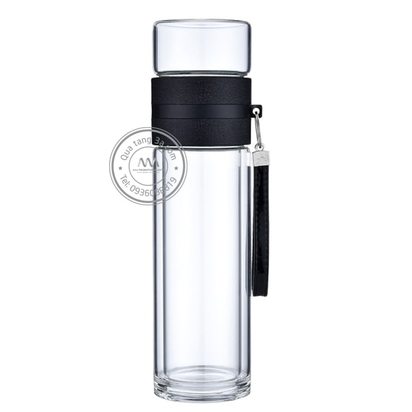 Quà tặng doanh nghiệp Bình nước thủy tinh in logo mẫu 5