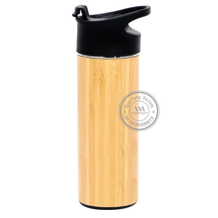 Quà tặng doanh nghiệp Bình giữ nhiệt tre in logo mẫu 2