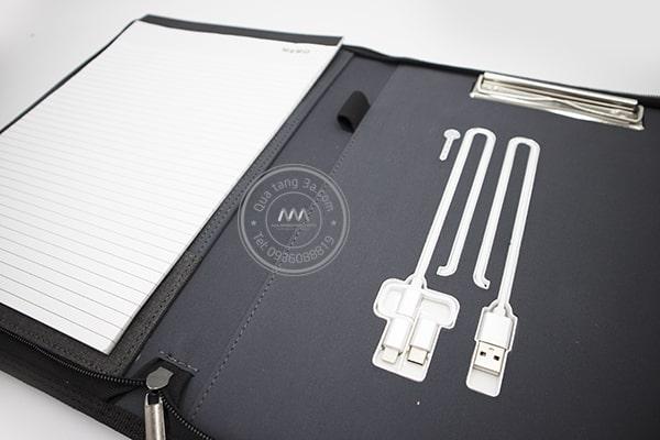 Quà tặng doanh nghiệp Cặp tài liệu in logo mẫu 1