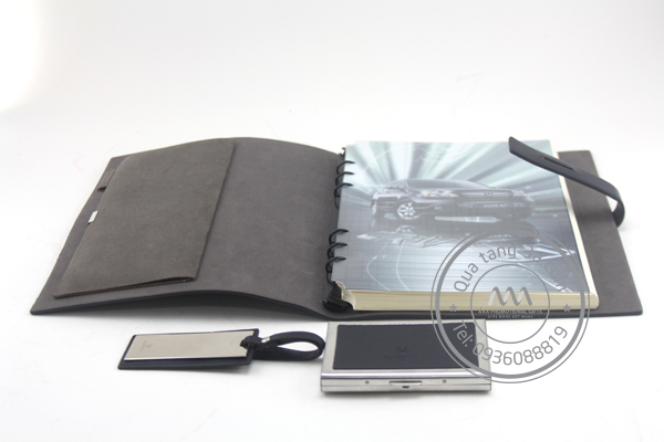 Gift set sổ - hộp name card - móc khóa