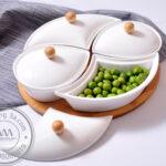 Khay đựng bánh mứt kẹo sứ Tết hình Oval