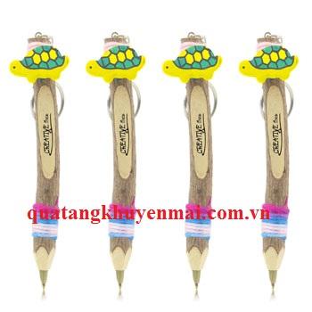 Bút bi đa năng vỏ gỗ