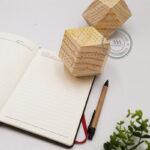 Lịch gỗ nguyên khối để bàn mặt tứ giác - Quà tặng Tết độc đáo, eco - friendly