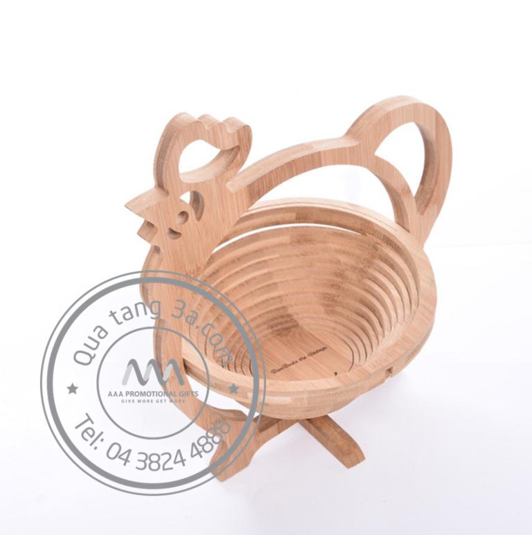 Giỏ gỗ xếp gọn hình động vật