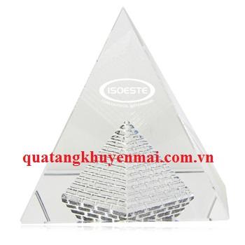 Chặn giấy pha lê kim tự tháp