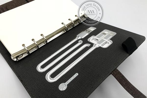 Quà tặng doanh nghiệp Sổ sạc đa năng in logo mẫu 2