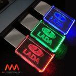 USB quà tặng pha lê đèn LED