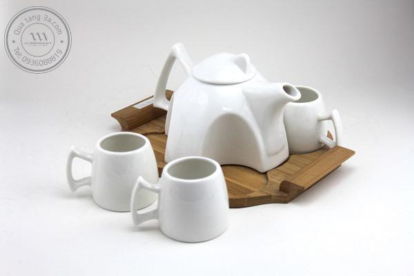 Bộ ấm trà màu trắng đẹp