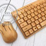 Bàn phím chuột tre in logo Quà tặng công nghệ độc đáo