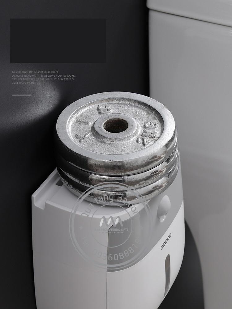 Hộp đựng giấy vệ sinh dán tường Ecoco - Sản phẩm lý tưởng cho nhà vệ sinh