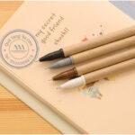 Bút bi giấy tái chế in logo - Quà tặng thân thiện với môi trường