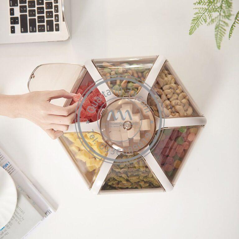 Khay đựng bánh kẹo Tết 7 ngăn hình hoa sen siêu hot