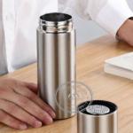 Bình giữ nhiệt inox 304 có lọc trà - quà tặng event sang trọng